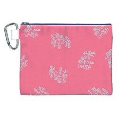 Branch Berries Seamless Red Grey Pink Canvas Cosmetic Bag (xxl) by Mariart