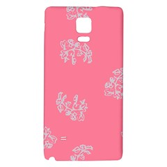 Branch Berries Seamless Red Grey Pink Galaxy Note 4 Back Case by Mariart