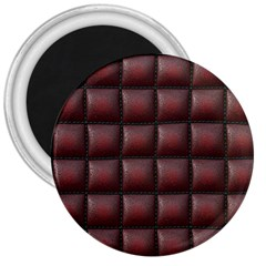 Red Cell Leather Retro Car Seat Textures 3  Magnets by Nexatart