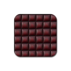 Red Cell Leather Retro Car Seat Textures Rubber Square Coaster (4 Pack)  by Nexatart