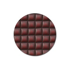 Red Cell Leather Retro Car Seat Textures Magnet 3  (round)