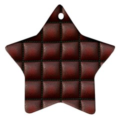 Red Cell Leather Retro Car Seat Textures Star Ornament (two Sides)