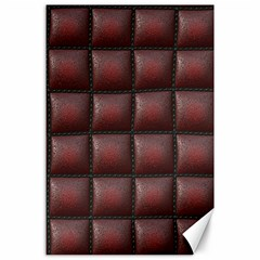 Red Cell Leather Retro Car Seat Textures Canvas 24  X 36  by Nexatart