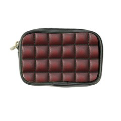 Red Cell Leather Retro Car Seat Textures Coin Purse by Nexatart