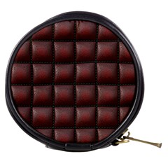 Red Cell Leather Retro Car Seat Textures Mini Makeup Bags