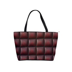 Red Cell Leather Retro Car Seat Textures Shoulder Handbags by Nexatart