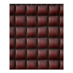 Red Cell Leather Retro Car Seat Textures Shower Curtain 60  X 72  (medium)  by Nexatart