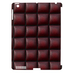 Red Cell Leather Retro Car Seat Textures Apple Ipad 3/4 Hardshell Case (compatible With Smart Cover)