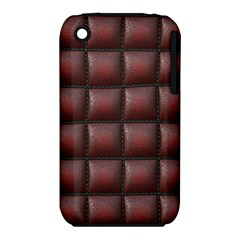 Red Cell Leather Retro Car Seat Textures Iphone 3s/3gs