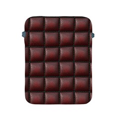 Red Cell Leather Retro Car Seat Textures Apple Ipad 2/3/4 Protective Soft Cases by Nexatart