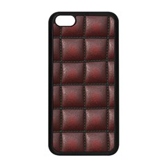 Red Cell Leather Retro Car Seat Textures Apple Iphone 5c Seamless Case (black) by Nexatart