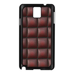 Red Cell Leather Retro Car Seat Textures Samsung Galaxy Note 3 N9005 Case (black)