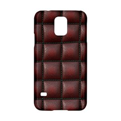 Red Cell Leather Retro Car Seat Textures Samsung Galaxy S5 Hardshell Case  by Nexatart