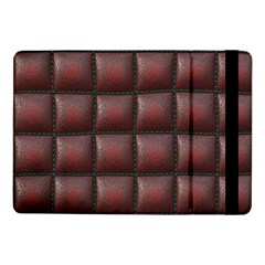 Red Cell Leather Retro Car Seat Textures Samsung Galaxy Tab Pro 10 1  Flip Case by Nexatart