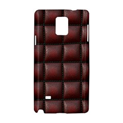Red Cell Leather Retro Car Seat Textures Samsung Galaxy Note 4 Hardshell Case by Nexatart