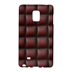 Red Cell Leather Retro Car Seat Textures Galaxy Note Edge