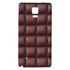 Red Cell Leather Retro Car Seat Textures Galaxy Note 4 Back Case by Nexatart