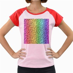 A Creative Colorful Background Women s Cap Sleeve T Shirt