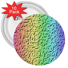 A Creative Colorful Background 3  Buttons (10 Pack)