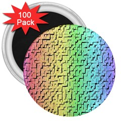 A Creative Colorful Background 3  Magnets (100 Pack) by Nexatart
