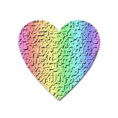 A Creative Colorful Background Heart Magnet by Nexatart