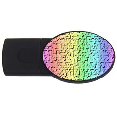 A Creative Colorful Background Usb Flash Drive Oval (4 Gb) by Nexatart