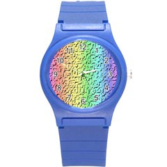 A Creative Colorful Background Round Plastic Sport Watch (s) by Nexatart