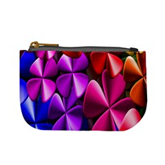 Colorful Flower Floral Rainbow Mini Coin Purses by Mariart