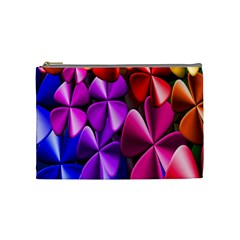 Colorful Flower Floral Rainbow Cosmetic Bag (medium)  by Mariart