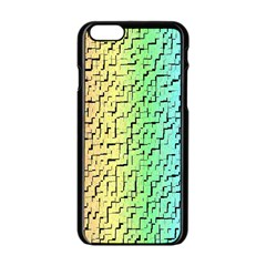 A Creative Colorful Background Apple Iphone 6/6s Black Enamel Case