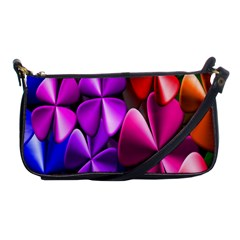 Colorful Flower Floral Rainbow Shoulder Clutch Bags