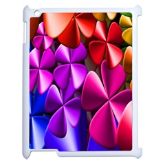 Colorful Flower Floral Rainbow Apple Ipad 2 Case (white) by Mariart