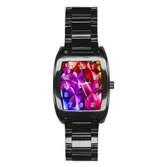 Colorful Flower Floral Rainbow Stainless Steel Barrel Watch by Mariart