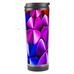 Colorful Flower Floral Rainbow Travel Tumbler by Mariart