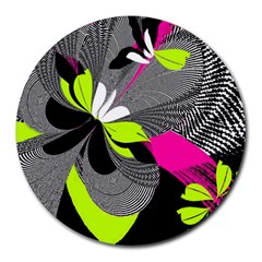 Abstract Illustration Nameless Fantasy Round Mousepads