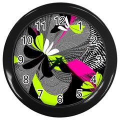 Abstract Illustration Nameless Fantasy Wall Clocks (black) by Nexatart