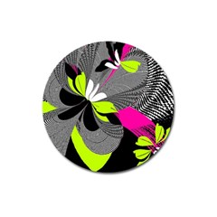 Abstract Illustration Nameless Fantasy Magnet 3  (round)