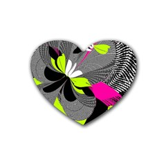 Abstract Illustration Nameless Fantasy Rubber Coaster (heart)  by Nexatart