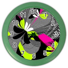 Abstract Illustration Nameless Fantasy Color Wall Clocks by Nexatart