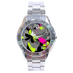 Abstract Illustration Nameless Fantasy Stainless Steel Analogue Watch by Nexatart