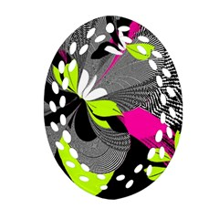 Abstract Illustration Nameless Fantasy Oval Filigree Ornament (two Sides) by Nexatart