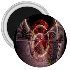 Fractal Fabric Ball Isolated On Black Background 3  Magnets by Nexatart
