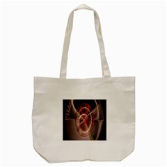 Fractal Fabric Ball Isolated On Black Background Tote Bag (cream) by Nexatart