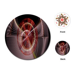 Fractal Fabric Ball Isolated On Black Background Playing Cards (round)  by Nexatart