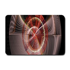Fractal Fabric Ball Isolated On Black Background Small Doormat