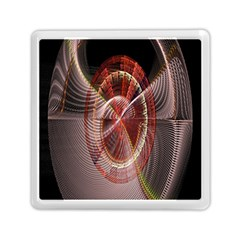 Fractal Fabric Ball Isolated On Black Background Memory Card Reader (square)  by Nexatart