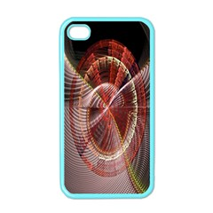 Fractal Fabric Ball Isolated On Black Background Apple Iphone 4 Case (color) by Nexatart