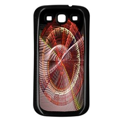 Fractal Fabric Ball Isolated On Black Background Samsung Galaxy S3 Back Case (black)