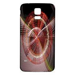 Fractal Fabric Ball Isolated On Black Background Samsung Galaxy S5 Back Case (white) by Nexatart