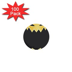 Halloween Pumpkin Orange Mask Face Sinister Eye Black 1  Mini Buttons (100 Pack)  by Mariart